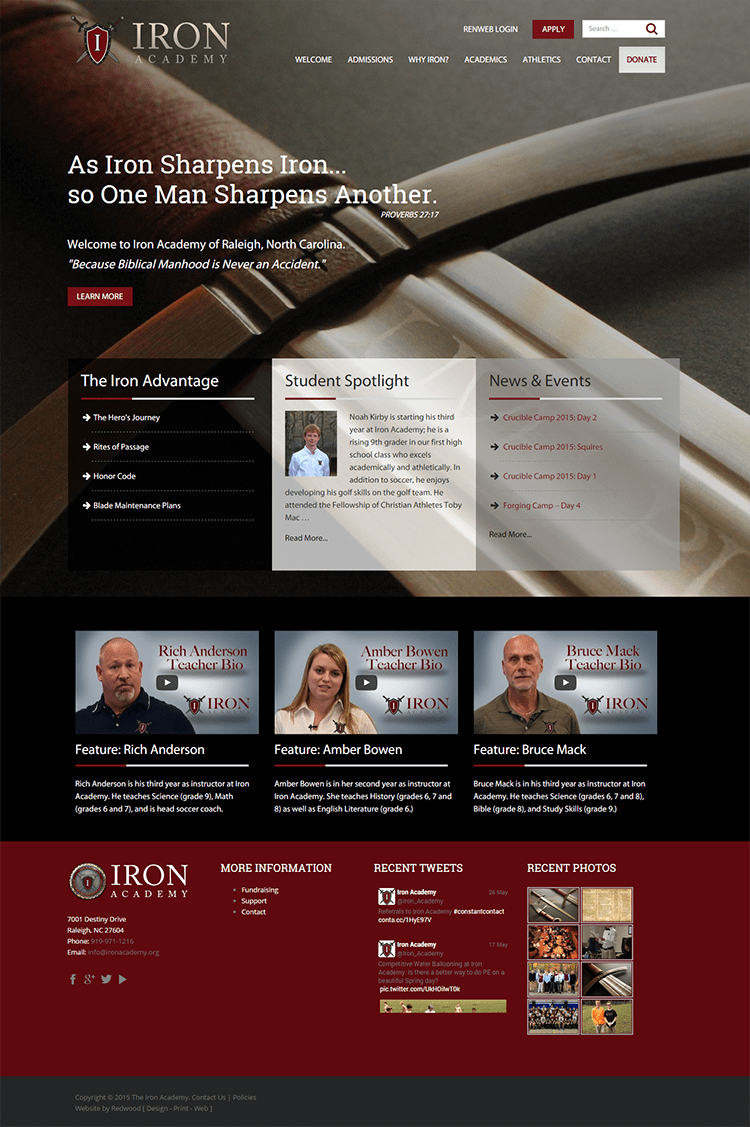 Iron Academy School Website Design & Development