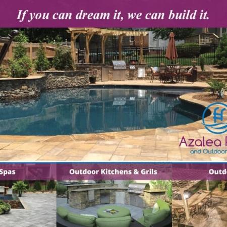 Azalea Pools & Outdoor Living Postcard Design