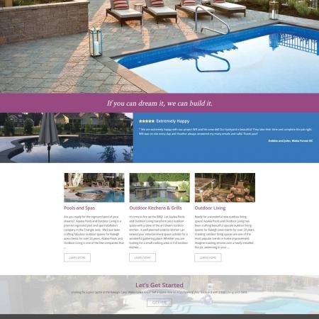 Azalea Pools & Outdoor Living Wordpress Website Design Developement