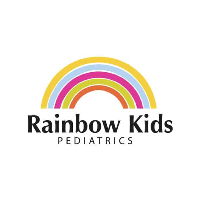 Health Care Logo Design Rainbow Kids Pediatrics
