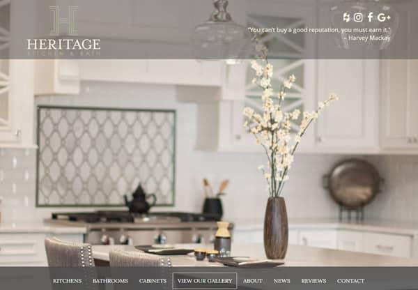Heritage Kitchen & Bath General Contractor Website Design & Development