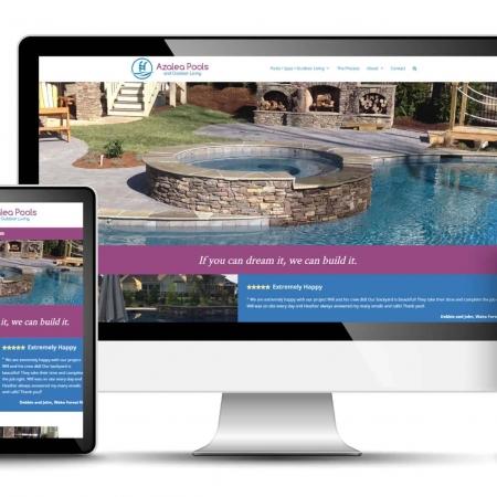 Pool Builder Website Design