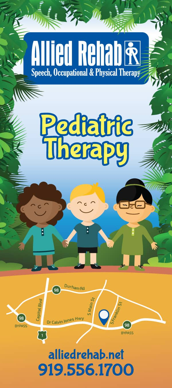 Allied Rehab Physical Therapy Rackcard Design Front Chidren