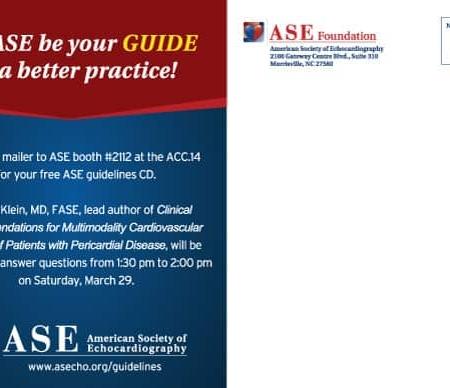 Echocardiography ASE Non Profit Postcard Designs