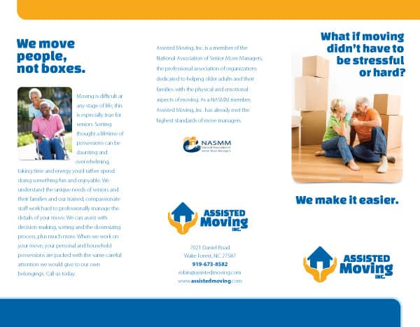 Assisted Moving Company Brochure