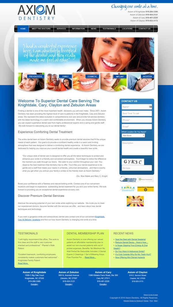 Axiom Dentist Dental Practice Web Design & Development