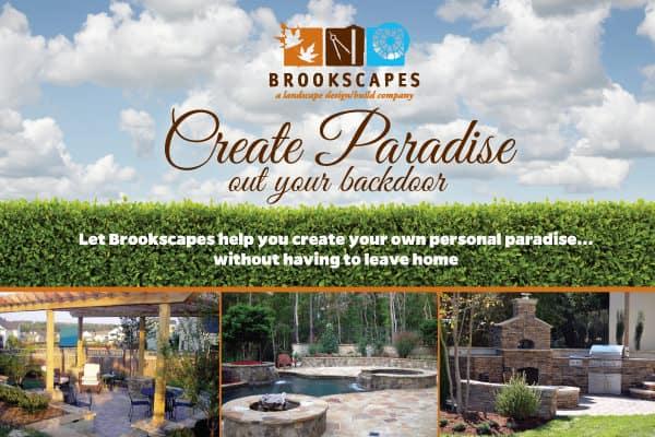 Brookscapes Landscaping Postcard Design Front