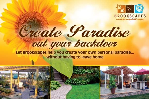 Brookscapes Landscape Landscaping Postcard Design Front