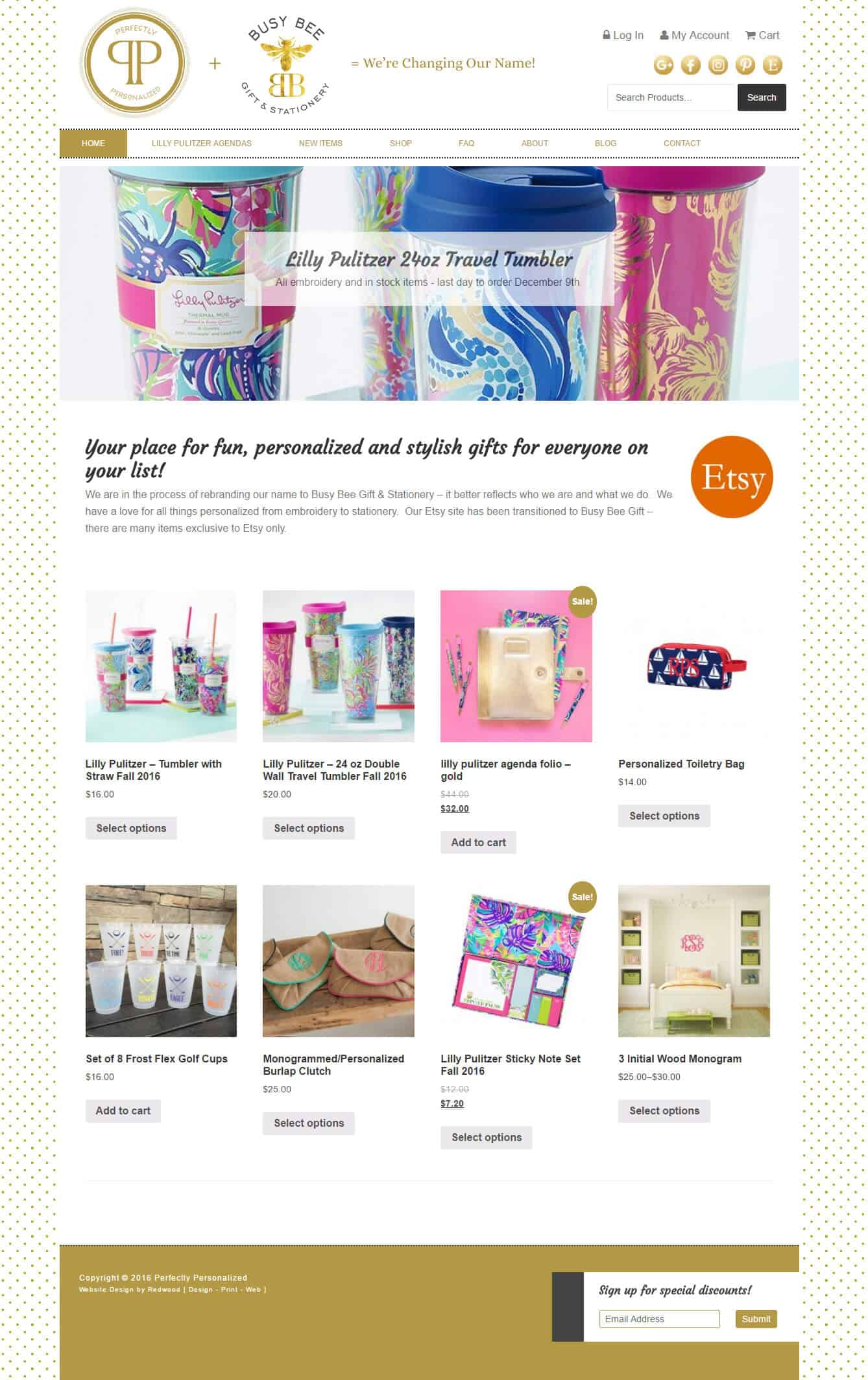 Busy Bee Gift & Stationery Retail Website Design & Development