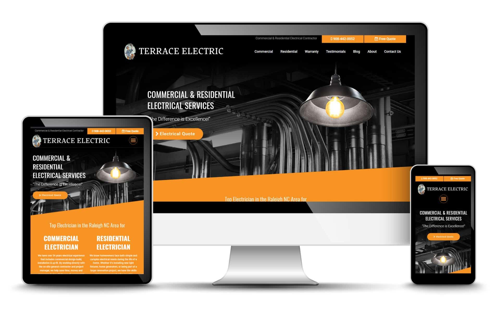 Electrician Web Design