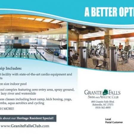 Granite Falls Athletic Club Postcard Designs