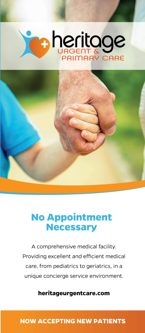Heritage Urgent & Primary Care Health Care Brochure Design Cover