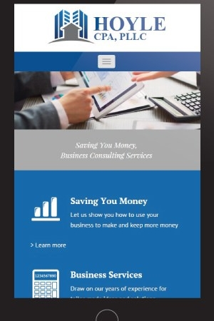 Accounting Mobile Website