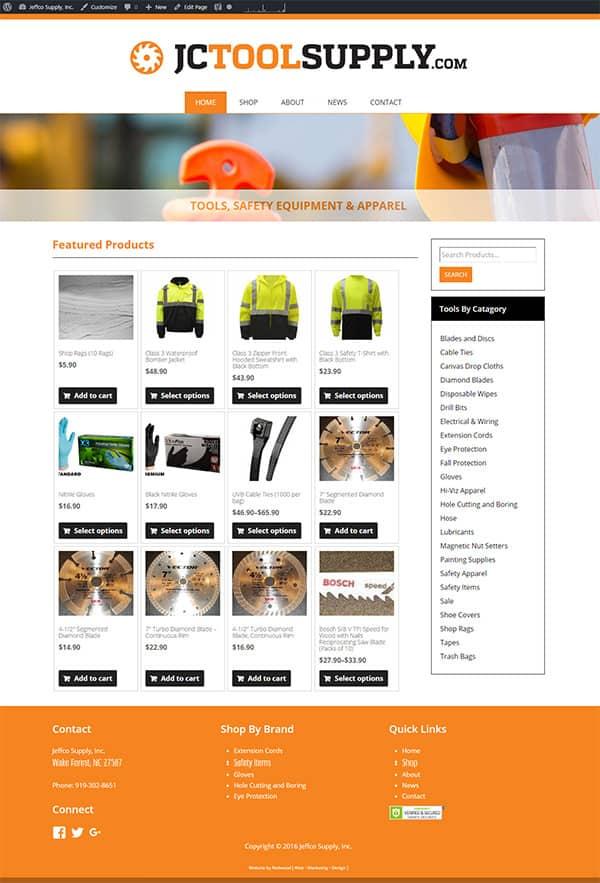 Jeffco Supply Retail Website Design & Development
