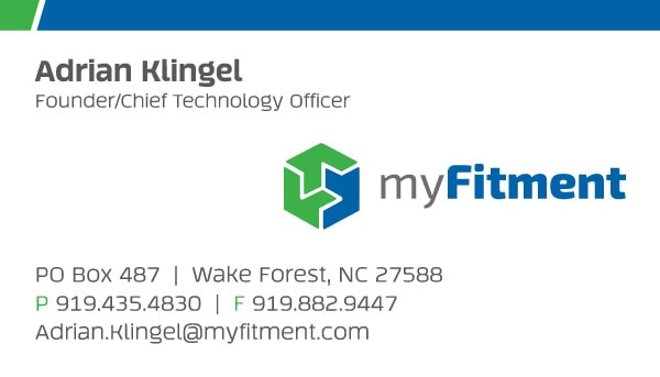 myFitment Automotive Business Card Design