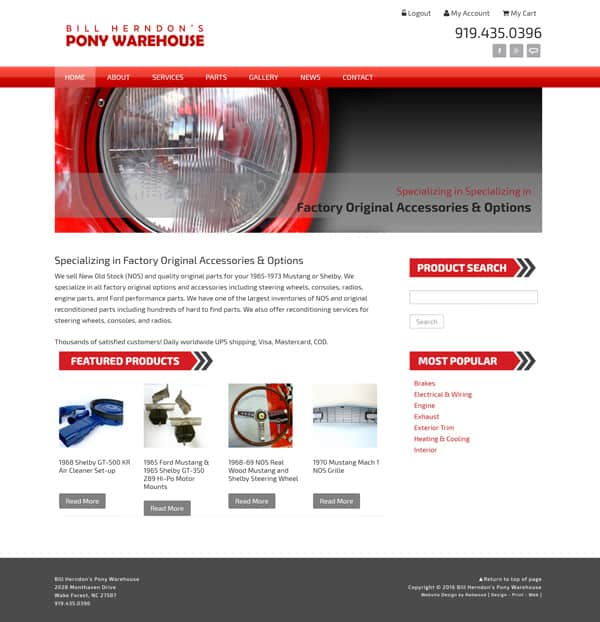 Pony Warehouse Automotive Web Design & Development