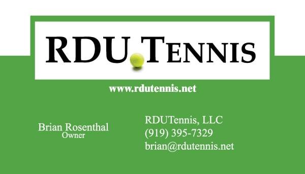 RDU Tennis Business Card Design