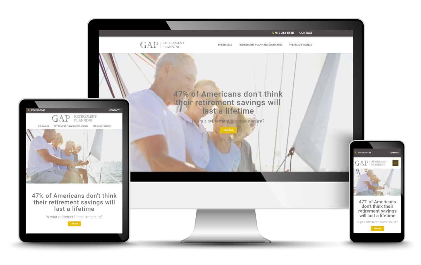 Retirement Planning Website Design For GAP Retirement