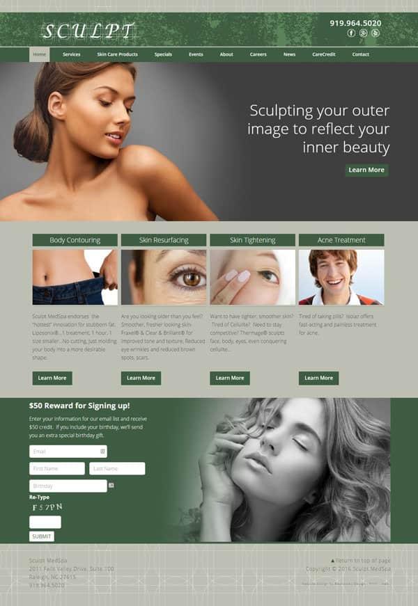 Sculpt Medspa Web Design & Development
