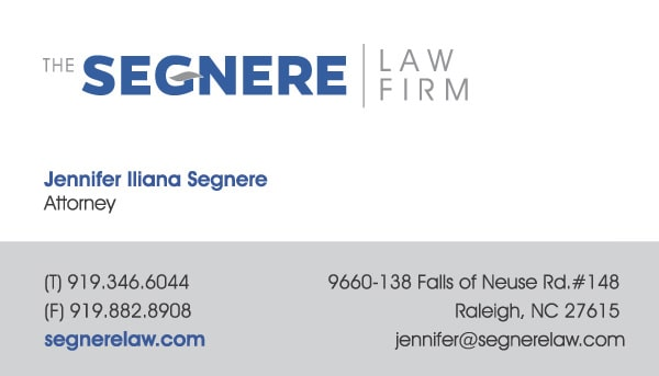 Segnere Law Firm Business Card Design