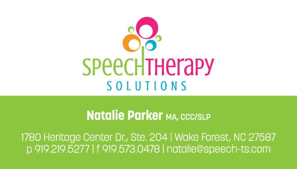 Speech Therapy Solutions Business Card Front