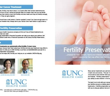 UNC Fertility Heath Care Brochure Design