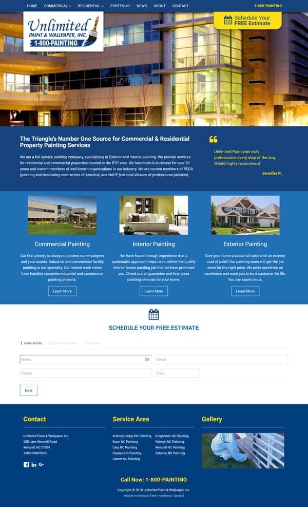 Unlimited Paint & Wallpaper Web Design