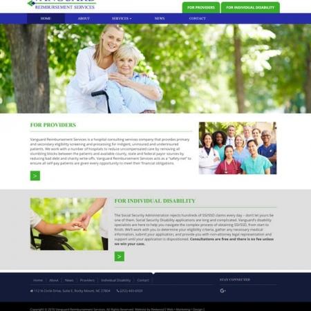 Vanguard Reimbursement Services Health Care Web Design & Development